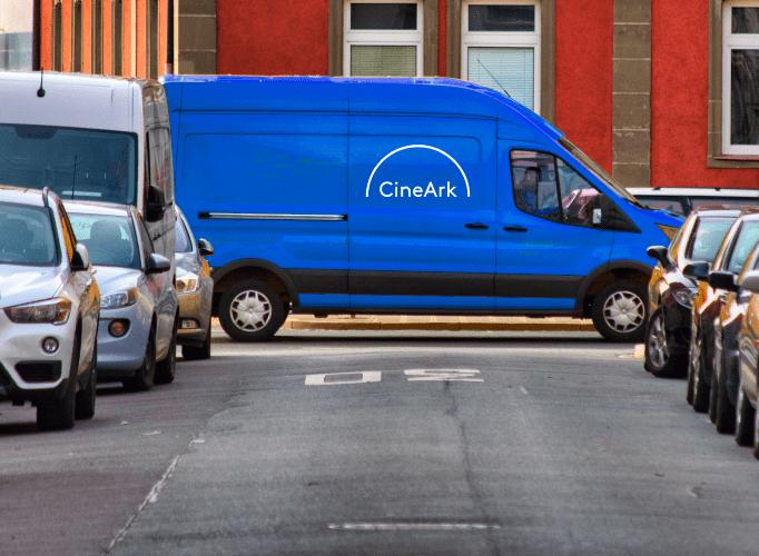 CineArk van in the street