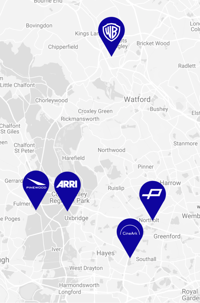 CineArk location map